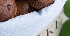 Chocolate and almond milk muffins
