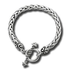 Woven Chain is soft, flexible and so easy to wear.  The signature swirl design on the toggle....  So Zina!