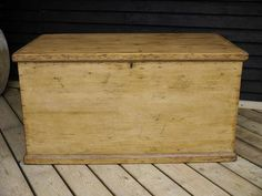 Antique Pine Blanket Box to complement main woods used with the room and create individuality.
