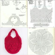 Very nice bag with pineapple pattern - Taschen häkeln - - Bag häkeln nice Pattern pineapple Taschen Filet Crochet, Crochet Pouch, Crochet Cross, Irish Crochet, Crochet Stitches, Crochet Patterns, Needlepoint Stitches, Crotchet Bags, Knitted Bags