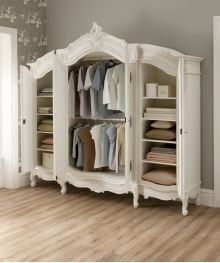 This exceptional La Rochelle Antique French Wardrobe is now available from French furniture specialists Rococo Furniture, Wardrobe Furniture, Shabby Chic Furniture, Rustic Furniture, Vintage Furniture, Home Furniture, Wardrobe Ideas, Bedroom Furniture, Furniture Design