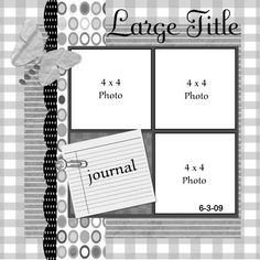 scrapbook layout by magdalena