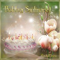Lady Moon uploaded this image to 'Koszono kartyak/Szulinapi'. See the album on Photobucket. Happy Brithday, Happy 2nd Birthday, Birthday Cake, Name Day, Cool Websites, Birthday Candles, Origami, Prints, Moon