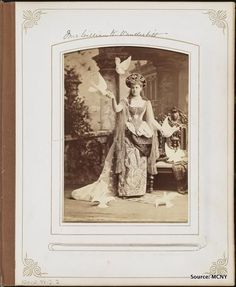 Mrs. Vanderbilt dressed for the infamous Ball of 1883