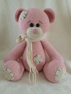 We have put together the most beautiful amigurumi knitting toy models.Beautiful amigurumi knitting patterns that you can enjoy with pleasure.Elfin Thread- Teddy Bear Amigurumi PDF Pattern (Teddy Bear crochet PDF pattern) ElfinThread USD October 16 2015 at Crochet Animal Patterns, Stuffed Animal Patterns, Amigurumi Patterns, Crochet Animals, Amigurumi Tutorial, Crochet Bear, Love Crochet, Crochet Dolls, Crochet Teddy Bear Pattern