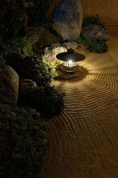 Zen Garden, Japan - really do like the light on patterns in the sand.