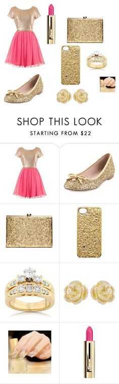 """""""gold"""" by closandmoreclose on Polyvore featuring Kate Spade, Marc by Marc Jacobs, Kobelli, Effy Jewelry and Guerlain"""