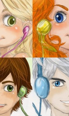merida hiccup jack rapunzel | Fan art) Merida, Rapunzel, Jack et Hiccup - The Big Four - Page 15