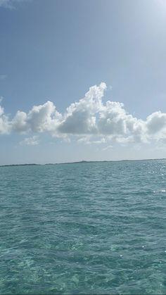 Blue waters of Exuma Bahamas
