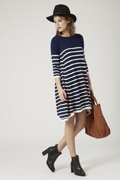 Top Shop stripe swing dress