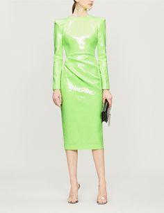 a4695de7a08e ALEX PERRY Corbet sequinned midi dress