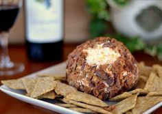 A ball of creamy cheese sprinkled with crispy bacon. The perfect quick fix if you forgot to make an appetizer before your dinner party.