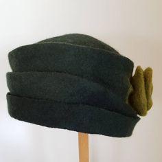 Fibre Art, Funky Fashion, Felt Hat, Hats For Women, Etsy Shop, Autumn, Bottle, Green, Handmade
