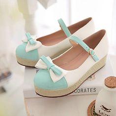 Handmade Słodkie Bow 4cm Szkolna Platforma Lolita Shoes – EUR € 41.24