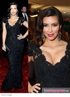 Love the Old Hollywood Glamour Hair. Dress is fab!