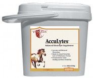 ACCULYTES 20 LBS BUCKET. Supplement for accurate replacement of electrolytes lost in sweat. Also provided is the amino acid 1-glycine which is important for the absorption of electrolytes; a micro organism found naturally in the hind gut of healthy horses. Very palatable. Top dress or drench, 1.5 to 3 oz. daily.  $112.95
