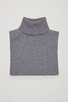 COS image 1 of Roll-neck cashmere collar in Grey