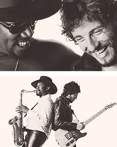 Bruce Springsteen and Clarence Clemons.