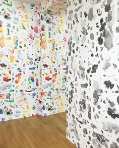 WALLPAPER!!! A little glimpse inside the wildly playful exhibition of Zurich artist Urs Fischer (at the Fondation Vincent Van Gogh in Arles) #ursfischer