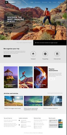 Are you ready to get your Travel Website up and running today? Get this WordPress Journey Website Design powered by envato BeTheme by muffingroup #wordpress #web #design #travel #blog #website #promo