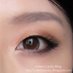 copper eyeshadow for monolids. http://cottoncandyc.blogspot.com