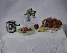 Still life no. 1 by Roee Lavan, oil on canvas, 2019 Be Still, Still Life, Cancer Treatment, Oil On Canvas, Painting, Painting Art, Paintings, Painted Canvas, Drawings