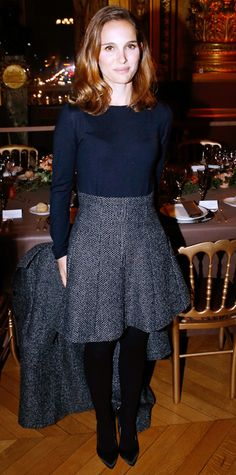 Look of the Day - January 13, 2015 - Natalie Portman in Dior from #InStyle