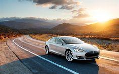 Tesla Model S, 2016, electric car, silver Tesla