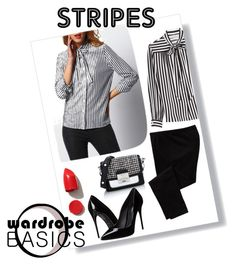 """#stripes3"" by aliss90 ❤ liked on Polyvore featuring Philosophy di Lorenzo Serafini, Old Navy, Karl Lagerfeld, Dolce&Gabbana, NARS Cosmetics and stripes"