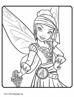 Iridessa becomes a Garden Fairy in the upcoming Disney Fairies movie. Come check out another beautiful Disney Tinkerbell and the Pirate Fairy coloring sheet. Enjoy!