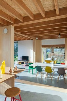 plywood ceiling ideas painted plywood ceiling ideas - The world's most private search engine Home Interior, Interior Architecture, Interior And Exterior, Interior Design, Airstream Interior, Side Chairs, Interior Inspiration, Sweet Home, New Homes
