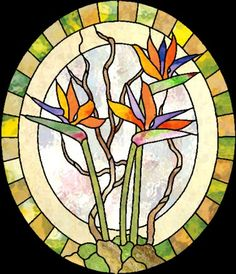 bird of paradise stained glass: inkspired musings: Paradise in a Flower