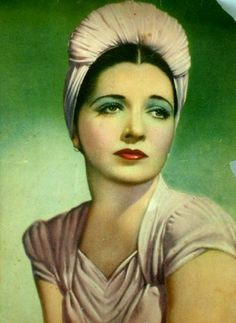 Handtinted image of Kay Francis. Vintage Pictures, Vintage Images, Turbans, Old Hollywood Stars, Vintage Hollywood, Rockabilly Looks, Kay Francis, Colorized Photos, Old Movie Stars