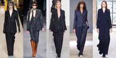 Pinstripe Suiting  YAS. Even a wide leg pin stripe trouser with a puffy sleeve white blouse would look incredible.