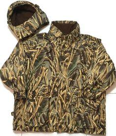 Columbia Hunting Duck Jacket 4XL Fowl Shadow Grass Camouflage Cartridge Holder | eBay
