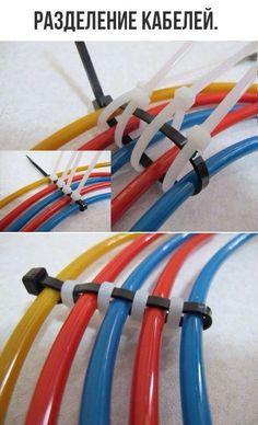 Kabel ordentlich nebeneinander anordnen