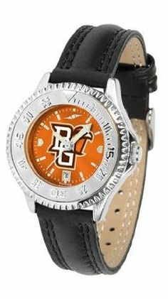 Bowling Green Falcons BG NCAA Womens Leather Wrist Watch by SunTime. $79.95. Showcase the hottest design in watches today! A functional rotating bezel is color-coordinated to compliment your favorite team logo. A durable long-lasting combination nylon/leather strap together with a date calendar round out this best-selling timepiece.. Save 21% Off!