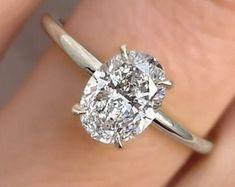 3 Carat Rhodolite Garnet Engagement Ring Baguette Diamond Ring | Etsy Unique Diamond Rings, Rose Gold Diamond Ring, Diamond Solitaire Rings, Emerald Cut Diamonds, Unique Rings, Diamond Cuts, Oval Diamond, Baguette Diamond, Gold Ring