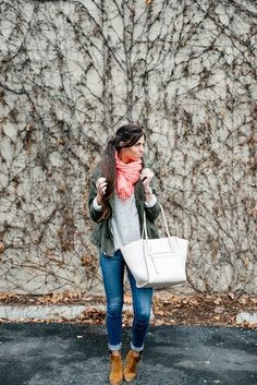 Marshalls Project Fab:          During this transitional time of year, I truly use layering to my advantage. Lightweight jackets and comfy scarves are easy things to add, but also can be taken off the second the sun comes out! By: Robyn, Project Fab Personal Blog: Cleverly Yours
