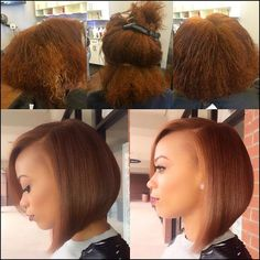 Dope blue bob via @hairbylatise Read the article here - http://www ...