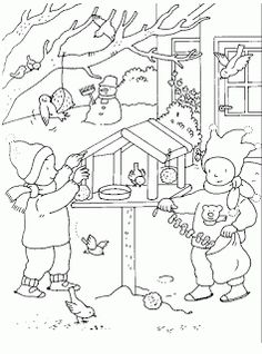 Helen Mamas Feeding Birds In Winter, Money Flowers, Coloring Sheets For Kids, Puzzle Books, Christmas Coloring Pages, Korean Art, Winter Art, Printable Coloring Pages, Christmas Colors