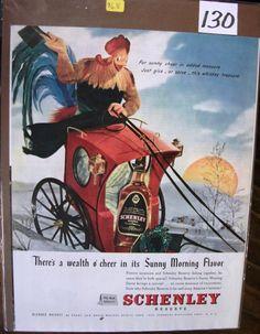 130 Schenley Whiskey Ad - 1946