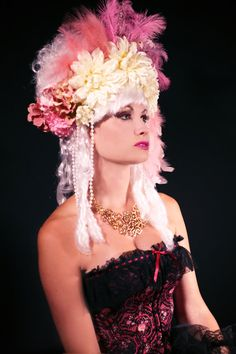 This is the most feminine and sexy wig in the collection! Perfect for a Marie Antoinette costume or even a french can can dancer!! This luxurious