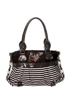 46d5502808672 Banned Dots   Stripes Anchor Handbag. AnkerWickeltascheTupfenStreifenSchwarz  Und WeißHandtaschenSchulter