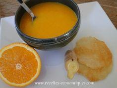 Velouté de carottes miel gingembre et tuiles salées aux amandes - recettes economiques