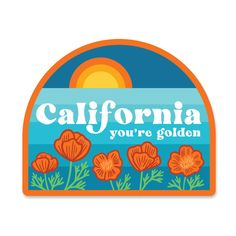 """A little love for the state of California. Details2.75"""" x 2.25"""" inscratch and weatherproofmade in the USA Please be aware the first class shipping option will ship with no tracking number, as to keep shipping costs down on stickers. Thank you!"""