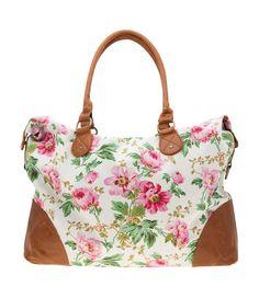 Floral Pattern Weekender Bag
