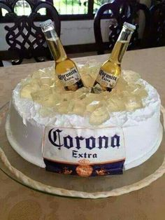 (notitle) - Robert's birthday - 30th Birthday Cakes For Men, Beer Birthday Party, 21st Birthday, Birthday Wishes, Corona Cake, Liquor Cake, Alcohol Cake, Mom Cake, Amazing Cakes