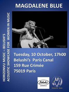 Magdalene Blue, 10 October,  Belushi's Paris Canal, Paris, 2017