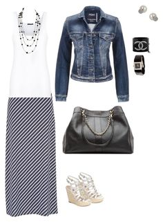 Denim Jacket and Maxi Skirt for Summer by luxabulous on Polyvore featuring Theory, maurices, GUESS, See by Chloé, Chanel and Miss Selfridge Summer Skirts, Miss Selfridge, Theory, Chanel, Denim, Shoe Bag, Polyvore, Jackets, Stuff To Buy
